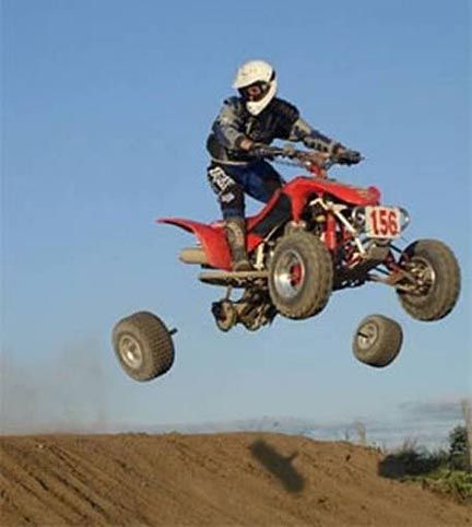 ATV Flying Wheels