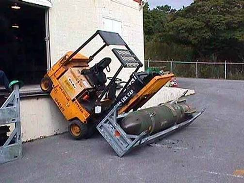 Forklift Crash with Bomb